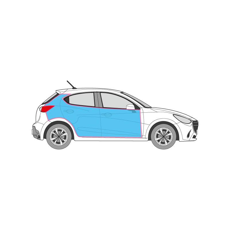 PKW Fahrzeugbeschriftung auf den Seitenflächen