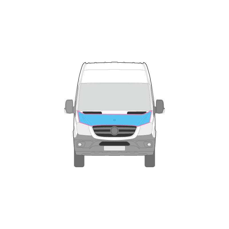 Transporter Fahrzeugbeschriftung auf der Motorhaube