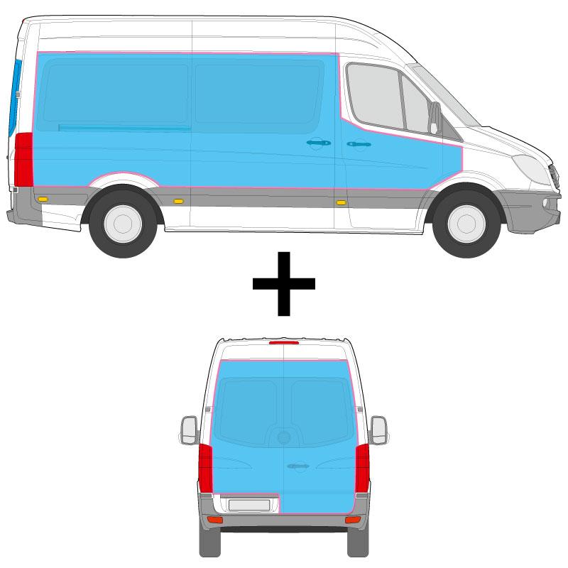 Transporter Fahrzeugbeschriftung an den Seiten, und dem Heck