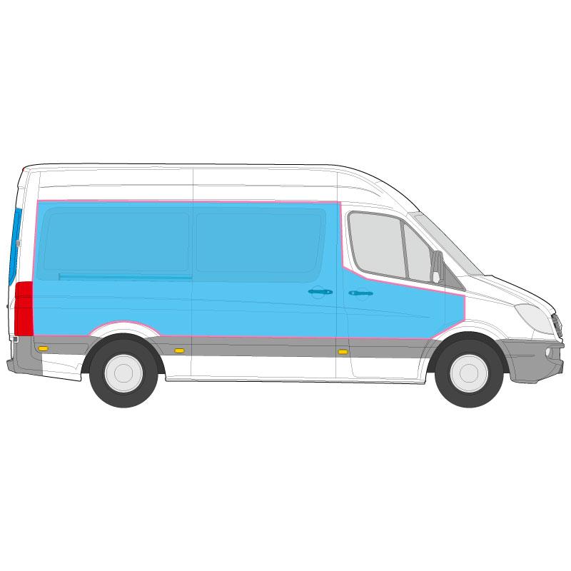 Transporter Fahrzeugbeschriftung auf den Seiten