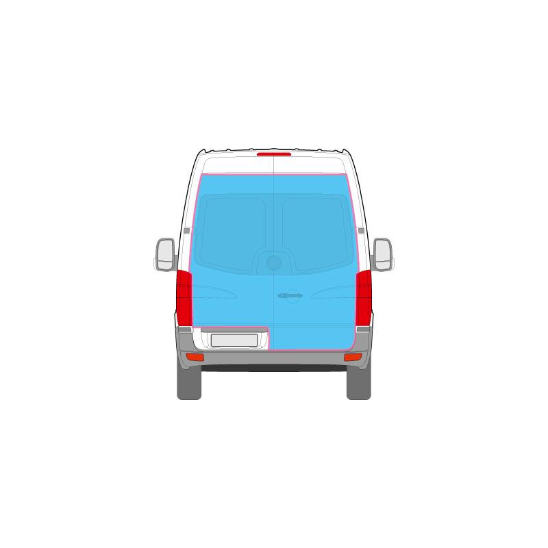 Transporter Fahrzeugbeschriftung nur auf dem Heck