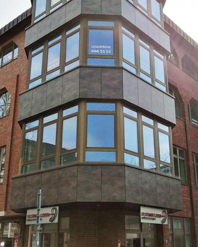 Sichtschutzfolien+Beschriftung Hamburg