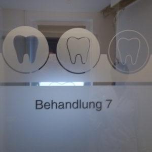Hamburg - Sichtschutzfolie Zahnarzt