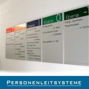 Personenleitsysteme Schilder